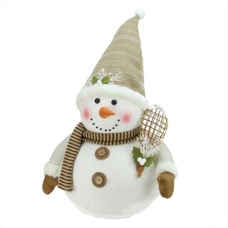 "20"" Snowman with Snow Shoes and Mistletoe Christmas Decoration"