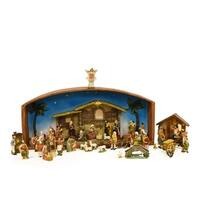 52-Piece Religious Christmas Nativity Village Set with Holy Family 31.5""