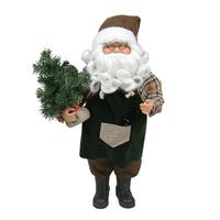 "18"" Gardening Santa Claus with Pine Tree Christmas Tabletop Decoration"