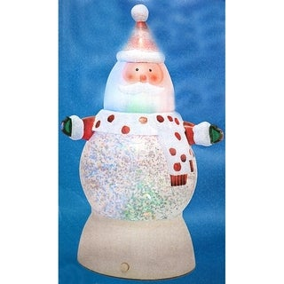 "7"" Battery Operated LED Lighted Color-Changing Santa Claus Christmas Glitterdome"