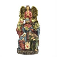 """18"""" Traditional Holy Family  Wisemen and Angel Religious Nativity Statue"""