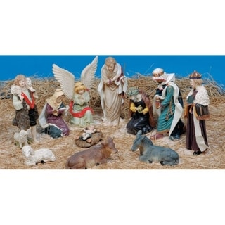 11-Piece Christmas Religious Nativity Figurine Set
