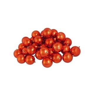 "12ct Shiny Orange Shatterproof Christmas Ball Ornaments 4"" (100mm)"