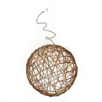"""10"""" Warm White LED Lighted Hanging Wire Ball Christmas Ornament Decoration"""