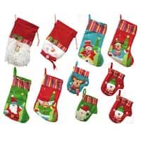 10-Piece Winter Wonderland Christmas Stocking and Novelty Gift Bag Set