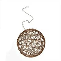 """8"""" Warm White LED Lighted Hanging Wire Ball Christmas Ornament Decoration"""