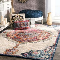 nuLOOM Transitional Medallion Multi Rug (4' x 6')