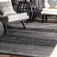nuLOOM Contemporary Abstract Pattern Grey Rug - 4' x 6'