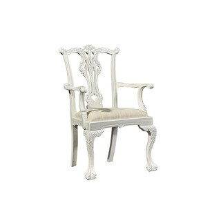 Goudy Wood Chippendale Arm Chair (Set of 2)