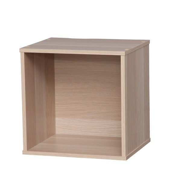 IRIS Brown Modular Wood Storage Cube Box  sc 1 st  Overstock.com & Shop IRIS Brown Modular Wood Storage Cube Box - Free Shipping On ...