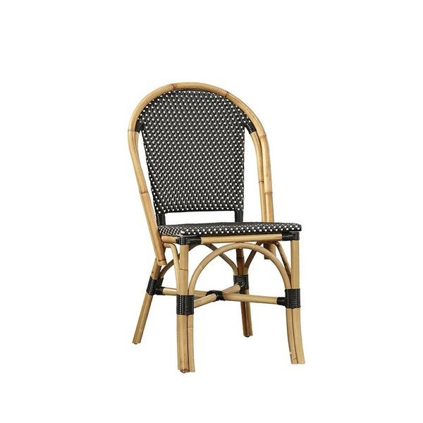 Admirable Shop Baskerville Black And White Wicker Side Chair Set Of 2 Inzonedesignstudio Interior Chair Design Inzonedesignstudiocom