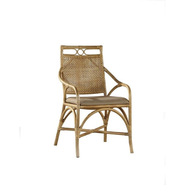 shop tallinne bamboo and woven rattan arm chair free shipping