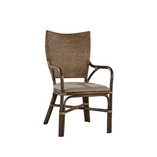 Hyacinth Bamboo and Woven Rattan Arm Chair