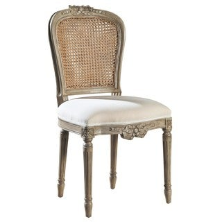 Jacqueline Carved Side Chair with Caned Panel (Set of 2)