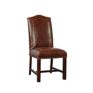 Harrington Double-Stitch Leather Dining Chair (Set of 2)