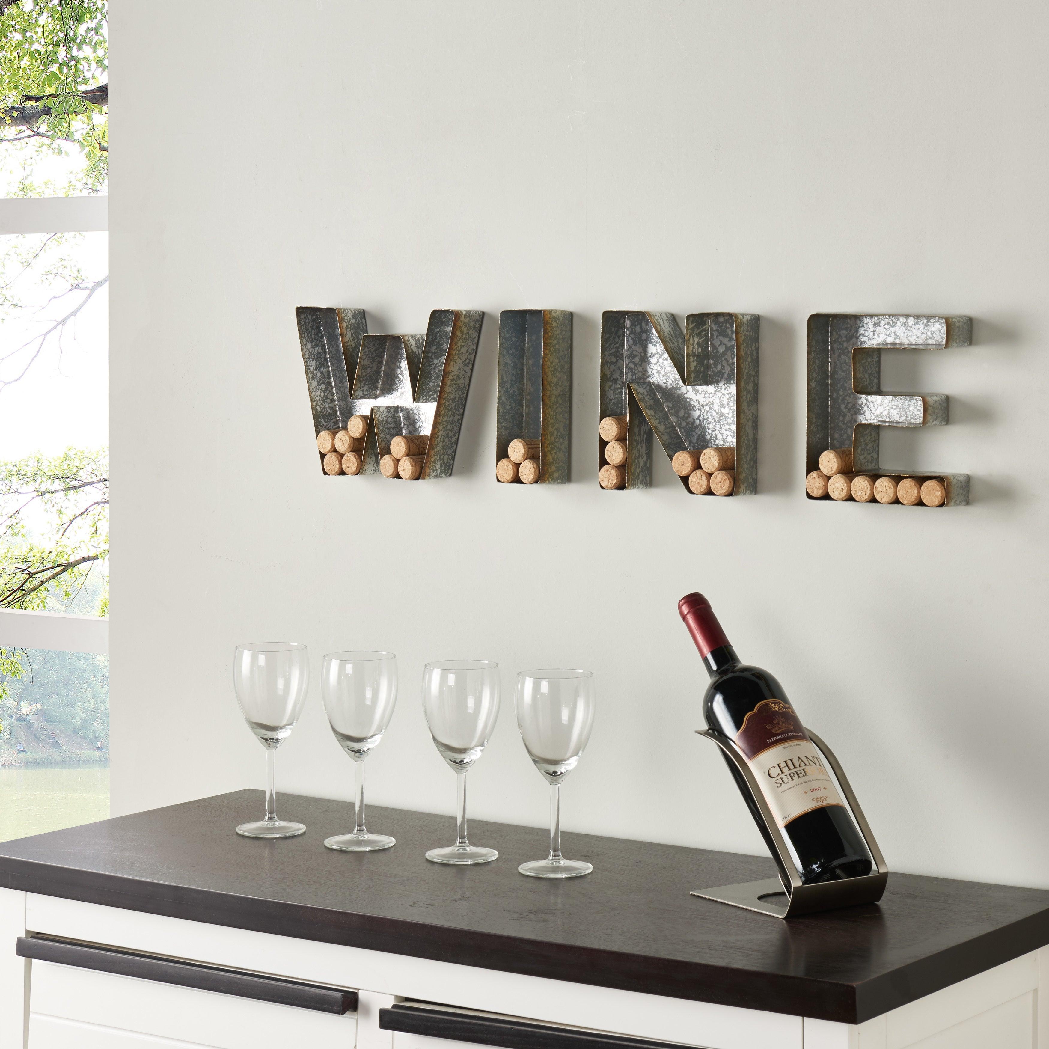 wine wall decor cork holder metal home bar kitchen rustic farmhouse gift new | ebay