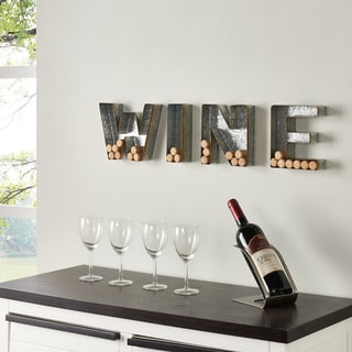 "Danya B. Wall Mount ""WINE"" Letter Set for Corks - Galvanized Sheet Metal"