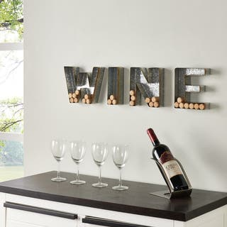 "Danya B. Wall Mount ""WINE"" Letter Set for Corks - Galvanized Sheet Metal