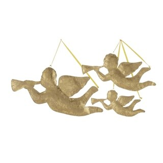 Studio 350 Metal Xmas Angel Set of 3, 32 inches, 24 inches, 18 inches wide