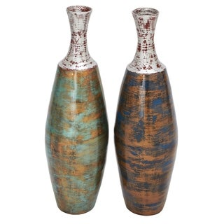 Studio 350 Lacquer Vase Set of 2, 10 inches wide, 30 inches high