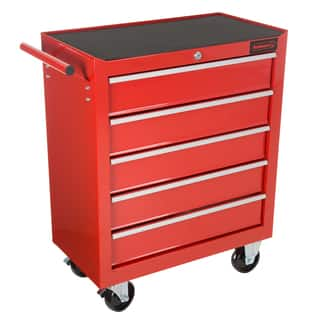Rolling Tool Box Cabinet, 5 Drawer Portable Storage Chest Tools Organizer With Wheels By Stalwart (Red)|https://ak1.ostkcdn.com/images/products/17290778/P23540756.jpg?impolicy=medium