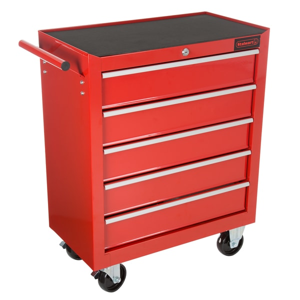 Rolling Tool Box Cabinet, 5 Drawer Portable Storage Chest Tools Organizer  With Wheels By Stalwart