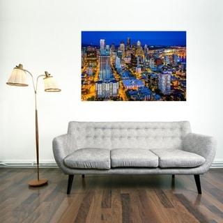 Noir Gallery Downtown Seattle Skyline Night View Fine Art Photo Print