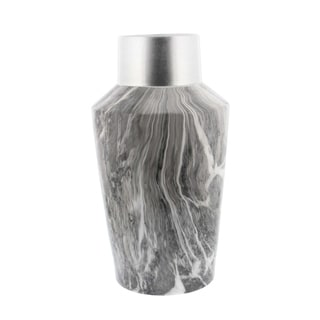 Studio 350 Ceramic Grey Marble Vase 8 inches wide, 14 inches high