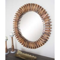 Studio 350 Wood Round Wall Mirror 35 inches D