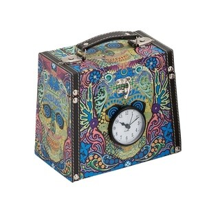 Studio 350 Wood Canvas Clock Box 8 inches wide, 7 inches high