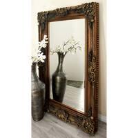Rustic 60 x 36 Inch Rectangular Wooden Wood Mirror by Studio 350 - Grey/Brown