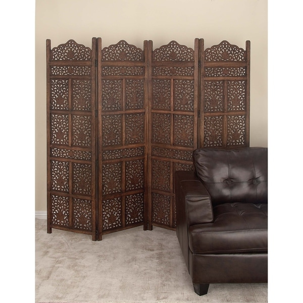 80 X 72 Large 4 Panel Wood Decorative Room Divider By