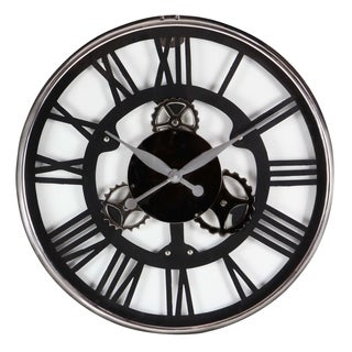Carbon Loft Maunchly Stainless Steel Black Wall Clock