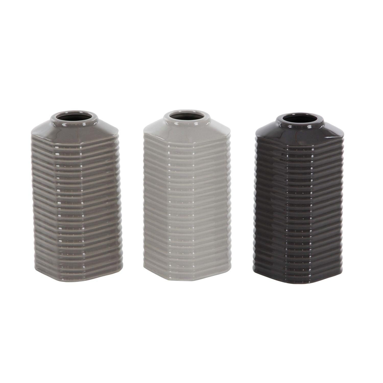 Strick & Bolton Martha Glazed Ceramic Vase (Set of 3)