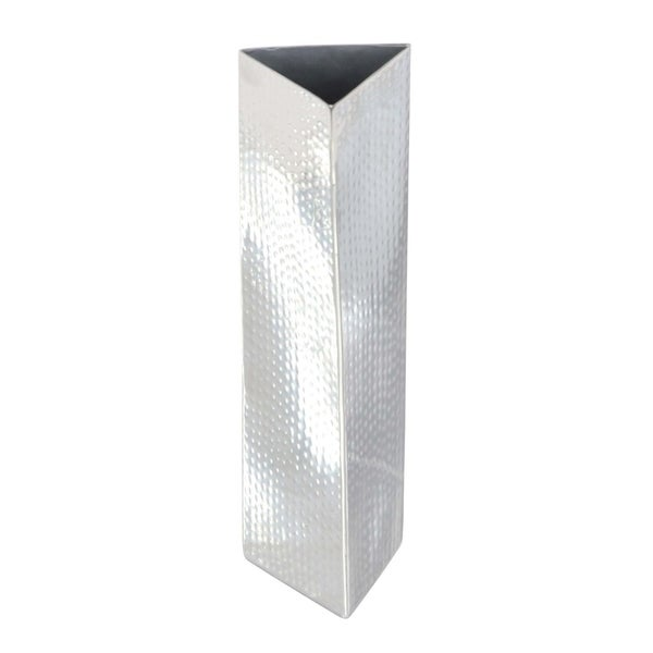 Silver Orchid Olivia Stainless Steel Vase 3 inches wide, 12 inches high