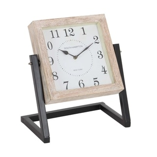 Studio 350 Metal Wood Clock 12 inches wide, 14 inches high