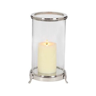 Studio 350 Aluminum Glass Candle Holder 9 inches wide, 14 inches high