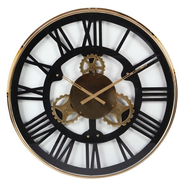 shop carbon loft maunchly stainless steel wall clock on sale free shipping today overstock. Black Bedroom Furniture Sets. Home Design Ideas