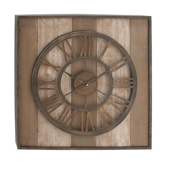Shop Studio 350 Wood Metal Wall Clock 26 Inches Wide 26