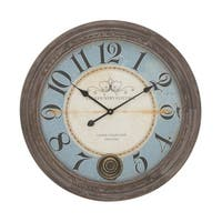 Maison Rouge Lamartine Wood Wall Clock