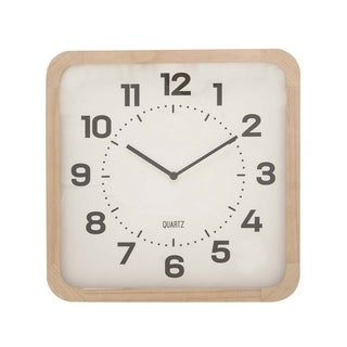 Carson Carrington Alavus Wood Wall Clock 15 inches wide, 15 inches high