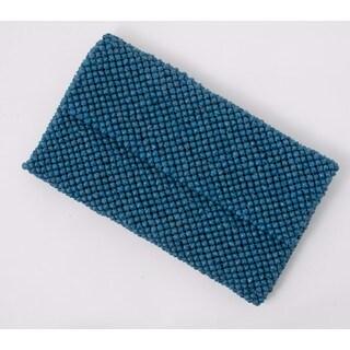 Paper Bead Lapis Blue Clutch (Uganda)
