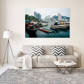 Noir Gallery Hong Kong Mountains and Harbor View Fine Art Photo Print (4 options available)