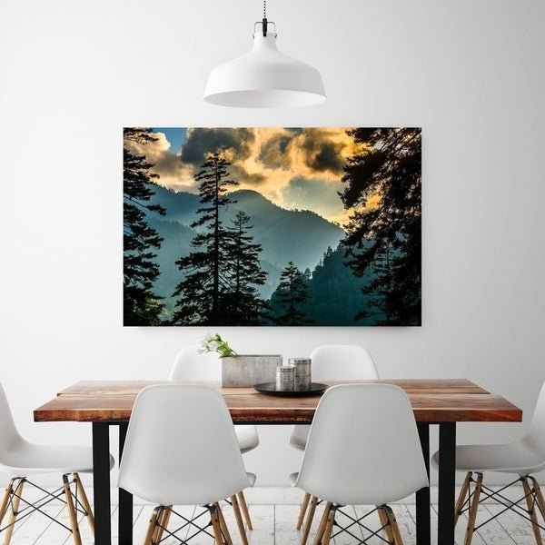 dining room fine art solid wood noir gallery great smoky mountains tennessee sunset view fine art photo print shop