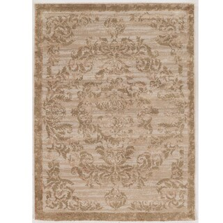 Hand Tufted Antique Vintage Collection Clara Beige and Gold Rug (1'10 x 2'10)