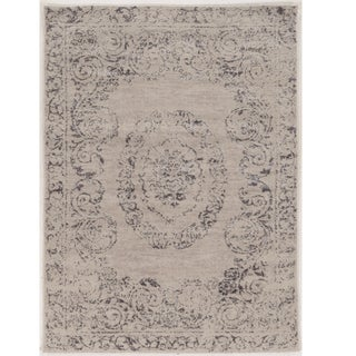 """Hand Tufted Antique Vintage Collection Isfahan Isfahan Ivory and Blue Rug (1'10"""" X 2'10"""")"""
