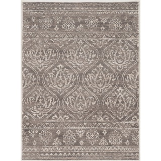Hand Tufted Antique Vintage Collection Lila Smoke and Ivory Rug (1'10 x 2'10)