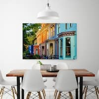 Noir Gallery Colorful Capitol Hill Row Houses in Washington, DC Fine Art Photo Print