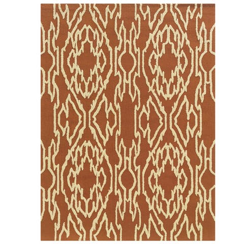 Hand Tufted Le Soleil Outdoor Collection Ikat Rug