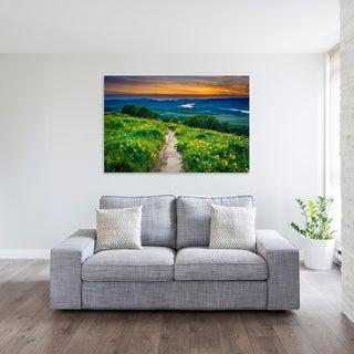 Noir Gallery Columbia River Gorge, Oregon Wildflowers Sunset Fine Art Photo Print